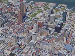 Cleveland City, OH, USA (2019) 3D Model