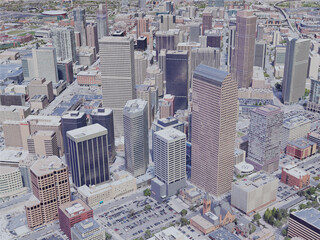 Denver City, CO, USA (2019) 3D Model