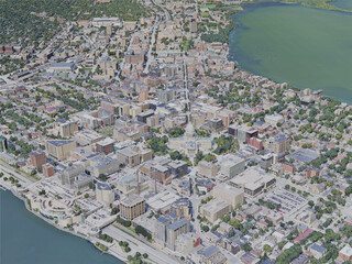 Madison City, WI, USA (2019) 3D Model