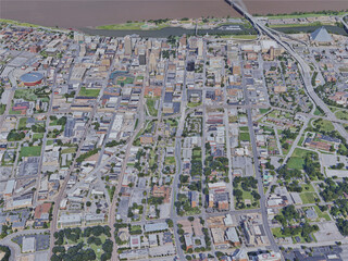 Memphis City, TN, USA (2019) 3D Model