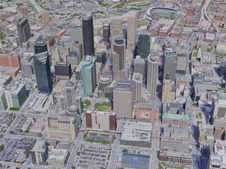 Minneapolis City, MN, USA (2019) 3D Model