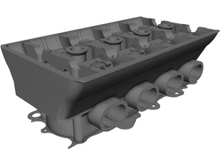 Honda B16 Vtec Engine Head CAD 3D Model