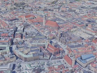 Munich City, Germany (2019) 3D Model
