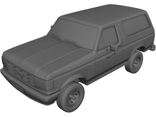Ford Bronco (1989) 3D Model 3D Preview