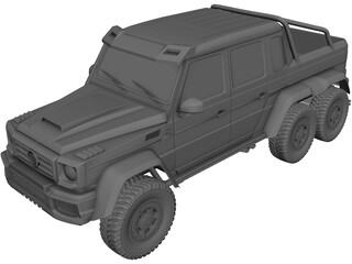 Mercedes-Benz G63 Brabus 6X6 3D Model