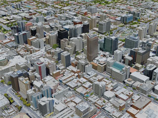 Adelaide City, Australia (2019) 3D Model