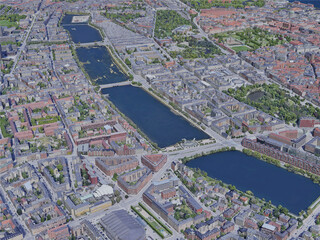 Copenhagen City, Denmark (2019) 3D Model