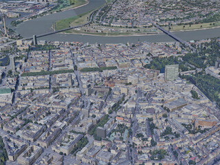 Dusseldorf City, Germany (2019) 3D Model