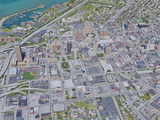 Buffalo City, NY, USA (2019) 3D Model