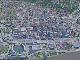 Cincinnati City, OH, USA (2019) 3D Model