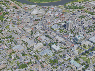 Montgomery City, AL, USA (2019) 3D Model
