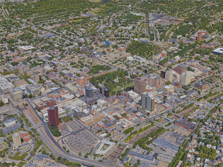 New Haven City, CT, USA (2019) 3D Model