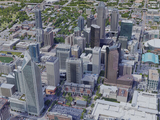 Charlotte City, NC, USA (2019) 3D Model
