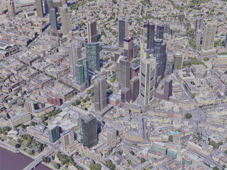 Frankfurt City, Germany (2019) 3D Model