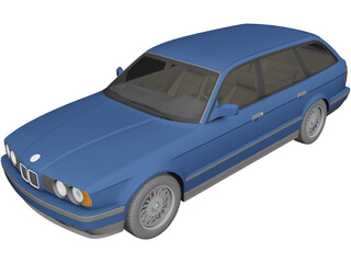 BMW 5-Series E34 Touring (1991) 3D Model