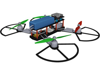 Quadcopter CAD 3D Model