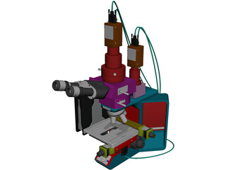 Olympus Microscope 3D Model
