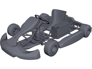 Electric Go Kart CAD 3D Model