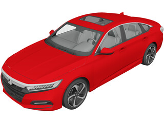 Honda Accord Sport Sedan (2018) 3D Model