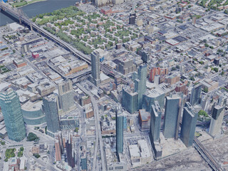 New York City, Queens, USA (2019) 3D Model
