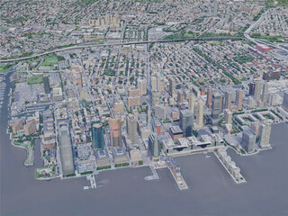 Jersey City, NJ, USA (2019) 3D Model