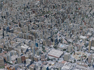 Belo Horizonte City, Brazil (2019) 3D Model
