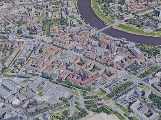 Dresden City, Germany (2019) 3D Model