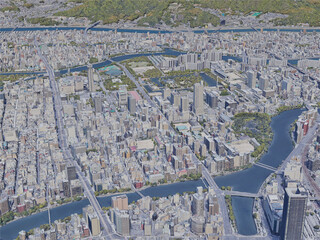 Hiroshima City, Japan (2019) 3D Model