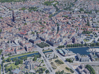 Strasbourg City, France (2019) 3D Model