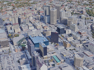 Winnipeg City, MB, Canada (2019) 3D Model