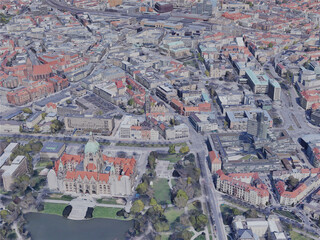 Hanover City, Germany (2019) 3D Model