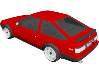 Toyota AE86 (1986) 3D Model