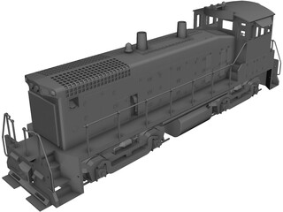 EMD SW1500 Locomotive CAD 3D Model