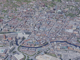 Leeds City, UK (2019) 3D Model