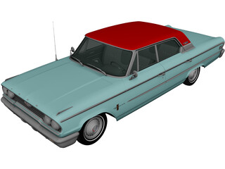 Ford Galaxie 500 (1963) 3D Model