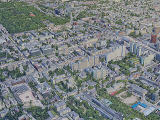 Lodz City, Poland (2019) 3D Model