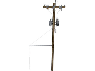 Electrical Pole 3D Model
