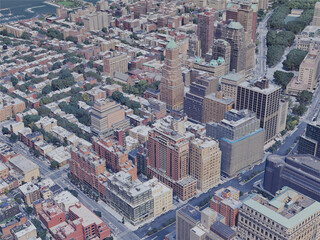 Brooklyn Heights, NY, USA (2019) 3D Model