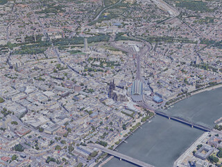 Cologne City, Germany (2019) 3D Model