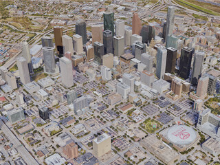 Houston City, TX, USA (2019) 3D Model