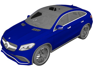 Mercedes-Benz GLE 63 AMG Coupe (2018) 3D Model