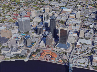 Jacksonville City, FL, USA (2019) 3D Model