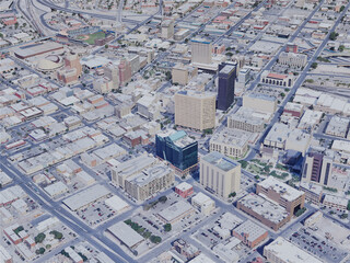 El Paso City, TX, USA (2019) 3D Model