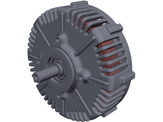 PMG132 Electric Motor CAD 3D Model