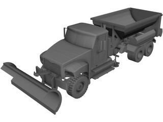 Snow Plow CAD 3D Model