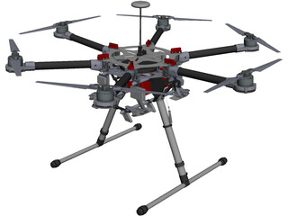 DJI Spreading Wings S900 CAD 3D Model