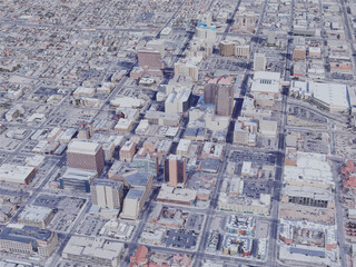 Albuquerque City, NM, USA (2019) 3D Model