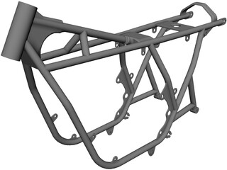 Honda CB750 Frame 3D Model