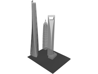 Shanghai Tower 3D Model 3D Preview