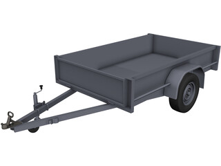 Box Trailer 7x5ft CAD 3D Model